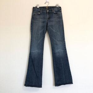 7FAM Blue Denim Flare Jeans Size 29